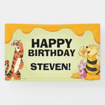 Pooh and Pals Birthday Banner