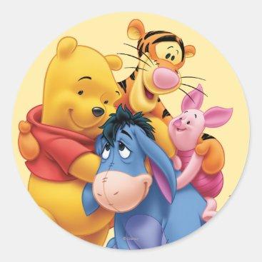 Pooh & Friends 5 Classic Round Sticker