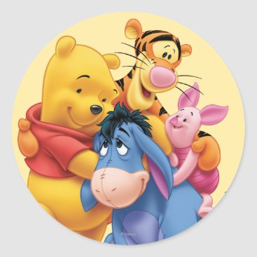 Pooh & Friends 5 Classic Round Sticker