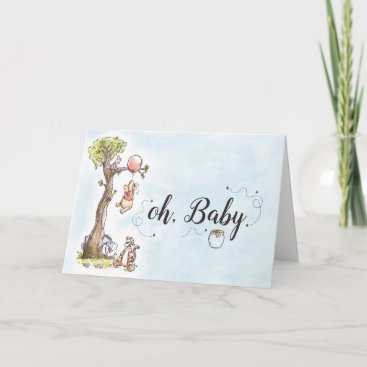 Pooh & Friends Watercolor | New Baby Card