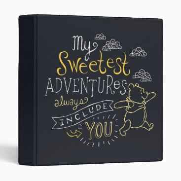 Pooh | My Sweetest Adventures 3 Ring Binder