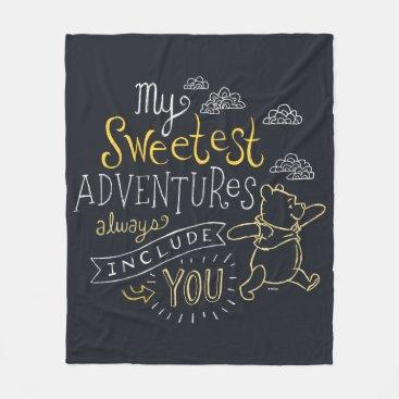 Pooh | My Sweetest Adventures Fleece Blanket
