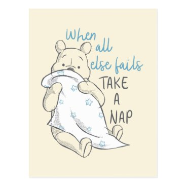 Pooh | Take a Nap Quote Postcard