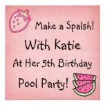 Pool Party Birthday Invitaiton Invitation