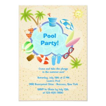 Poolside Invitation