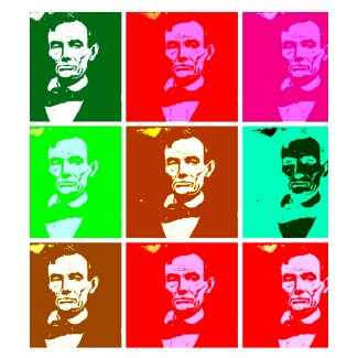 Pop Art .esque Abraham Lincoln shirt