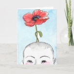 Fun Poppy Baby Bew Baby Greeting Card
