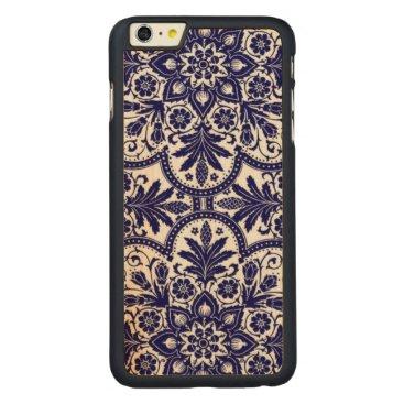 Porcelain Mandela Carved Maple iPhone 6 Plus Slim Case