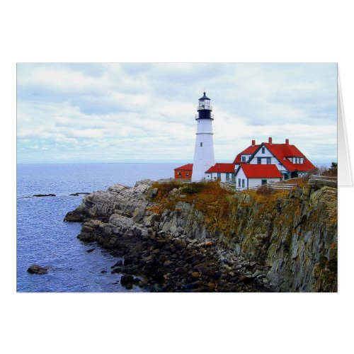 Portland Head Light House, Maine, Card