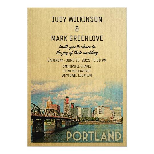 Portland Wedding Invitation Oregon