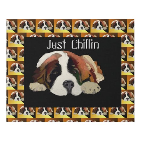 Portrait of a Cute Chillin' Saint Bernard Puppy
