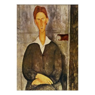 Portrait of a Young Man - Amedeo Modigliani
