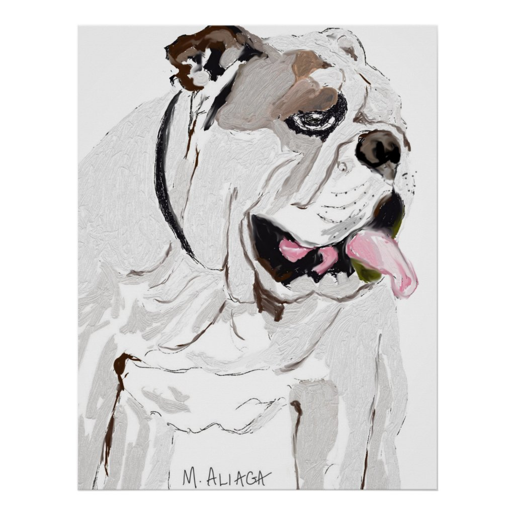Portrait of an English Bulldog Poster