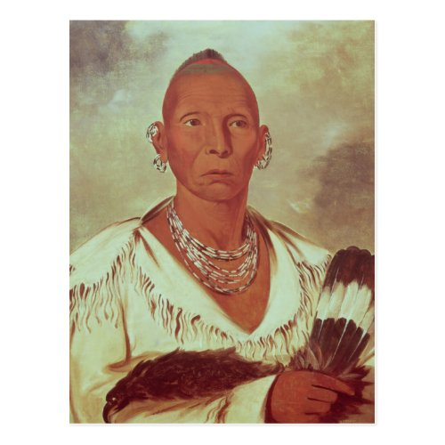 Portrait of Black Hawk, Indian Chief Post Card