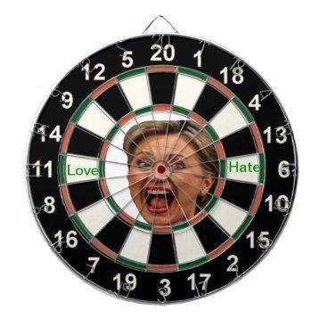 Portrait of Hillary Clinton Political Dart Board