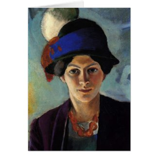 Portrait of the Artist s Wife by August Macke Card