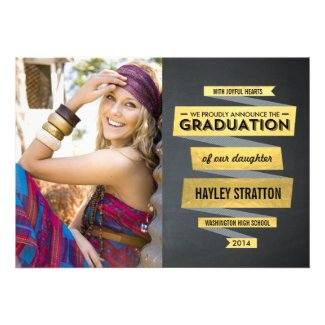 Posh Ribbon Graduation Invitation