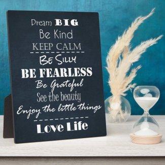 Positive Attitude Affirmations Quotes Plaque