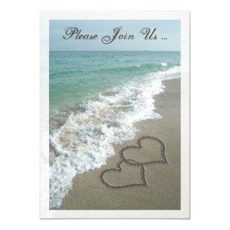 Post Wedding Reception Destination Beach Hearts Card