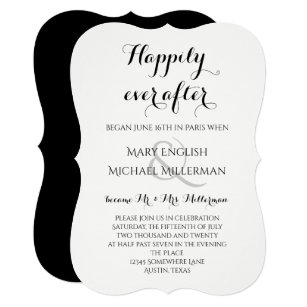 Post Wedding Reception Hily Ever After Invitation