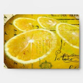 Postcard Lemons Envelope