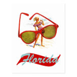 Postcard Vintage Retro Sunshine State Florida Fla