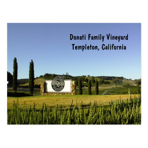 Postcard, Wine Country in Templeton, CA Postcard