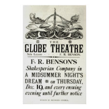 Poster advertising 'A Midsummer Night's Dream'