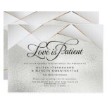 Postponed Wedding Silver Frost Gold White  Facets Invitation