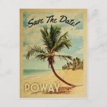 Poway California Save The Date Vintage Announcement Postcard