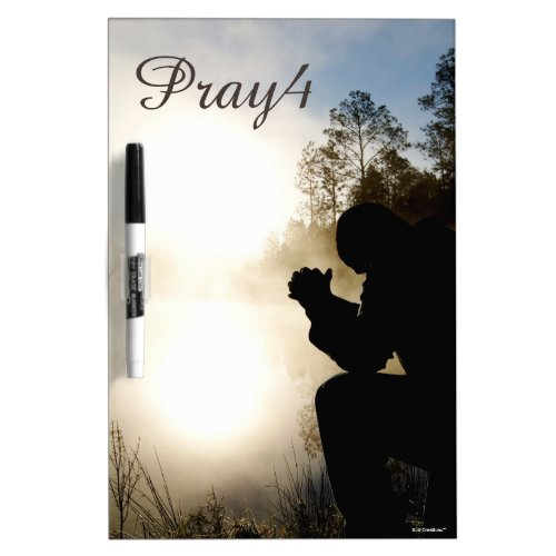 Pray4 Christian Prayer (use own photo) Dry-Erase Board