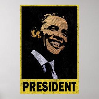 President Barack Obama Vintage print