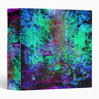 Pretty Blue and Purple Abstract Grunge Abalone Vinyl Binders