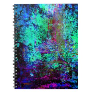 Pretty Blue and Purple Abstract Grunge Abalone Note Book