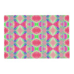 Pretty colorful pink pattern laminated place mat