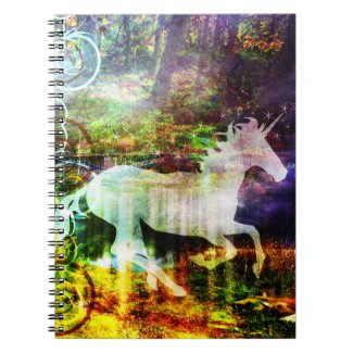 Pretty Fantasy Land Fairy Tale Unicorn Notebook