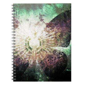 Pretty Grunge Fantasy Butterfly Wings Design Note Book