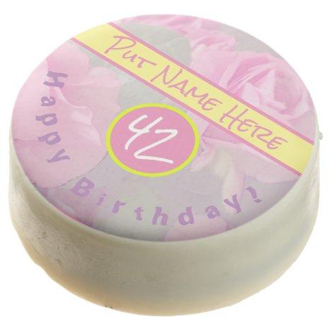 Pretty Pink Birthday White Chocolate Dipped Oreos