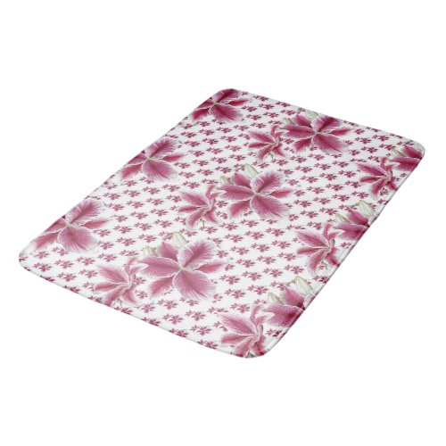 Pretty Pink Lily Bath Mat