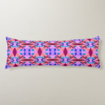 Pretty Pink orange Abstract Pattern Design Body Pillow