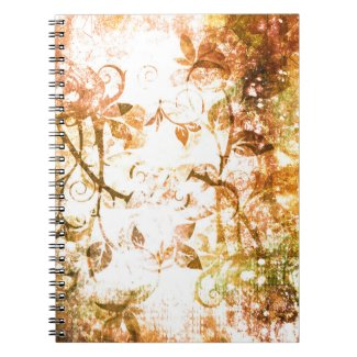Pretty Sepia Rose Vine Vintage Victorian Flourish Spiral Note Book