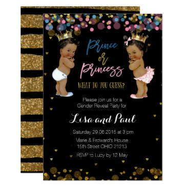 Prince and princess Gender Reveal invitation