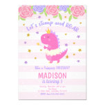 Princess Dinosaur Birthday Invitation