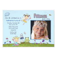 Princess for the Day Photo Birthday Party Invite