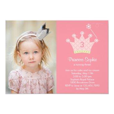 Princess Party Photo Birthday Invitation