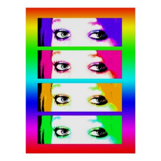 Print - Psychedelic Bright Eyes print