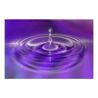 Print - Purple Water Drop print