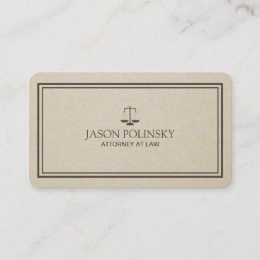 Professional and Modern Attorney Business Card