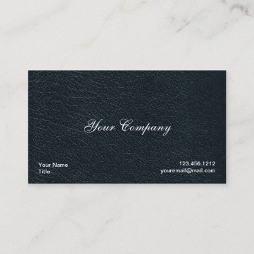 Professional Black Faux Leather Business Cards