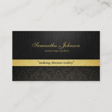 Professional Elegant Damask Business Cards